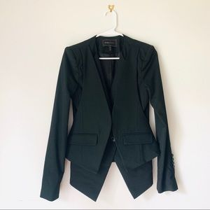 BCBGMaxazria Black Career Wear Vest Layer Blazer
